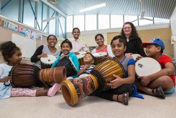 Using drums to build relationships with the wider community